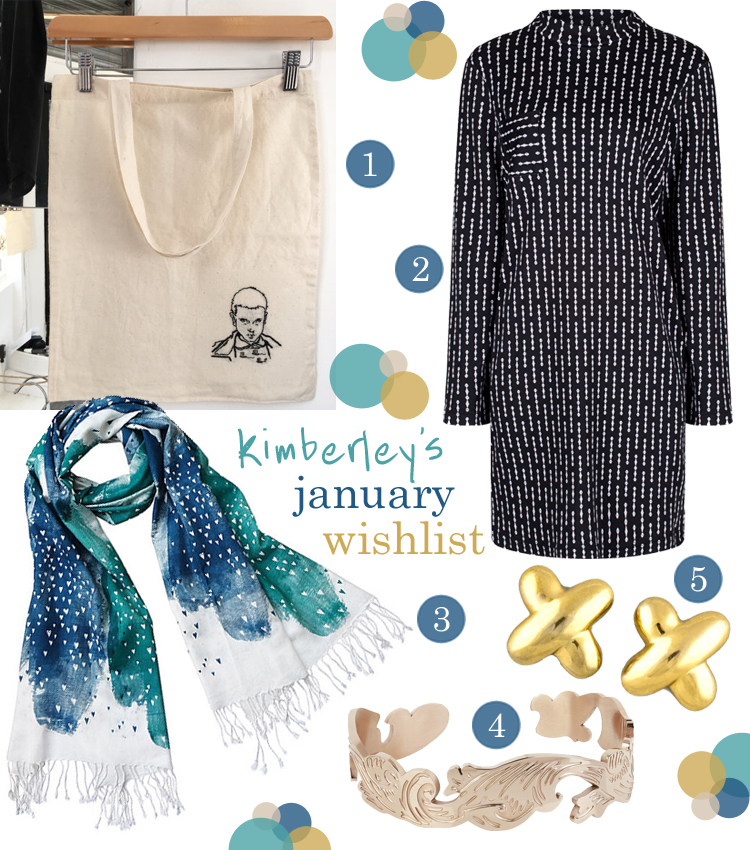 wishlist, wish list, Kimberley's January wishlist, blogger favourites, Little Stabs by Polly, Rachel McMillan, Bondiforest, Esa Evans, Milk Tooth London