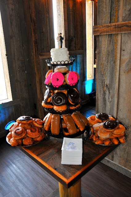 Police Officer Wedding Cake with Donuts