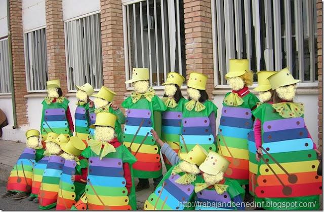 disfraz escolar de xilofonos