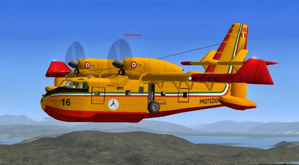 FlySimReal: FSX: Mission Water Bomber Canadair CL 215 or 415