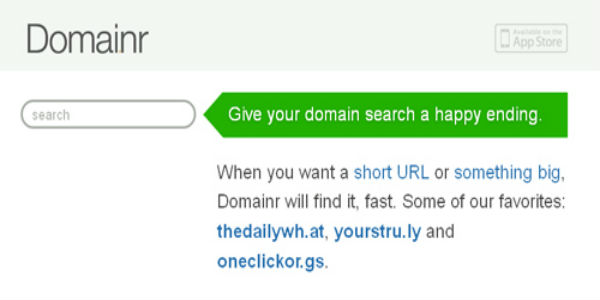 Domainr- Instant Domain name-Short urls-600x300