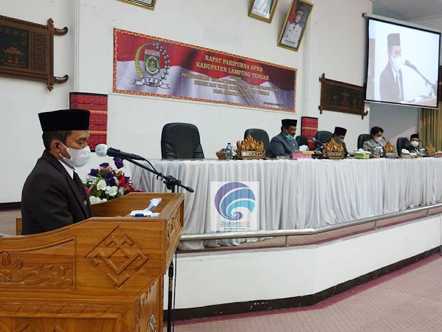DPRD Lampung Tengah Umumkan H. Musa Ahmad, S.Sos., dan dr. H. Ardito Wijaya Sebagai Bupati dan Wakil Bupati Lampung Tengah Periode 2021-2026