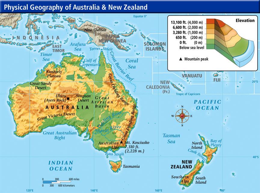 Cartina Geografica Dell Australia.Ripasso Facile Riassunto Australia