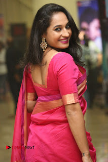 Actress Pooja Ramachandran Pictures in Red Silk Saree at Siddhartha Audio Release  0092
