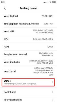Cara Cek IMEI HP Xiaomi 2