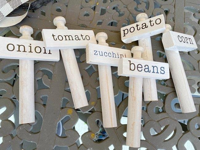 Scrap Wood Vegetable Garden Markers