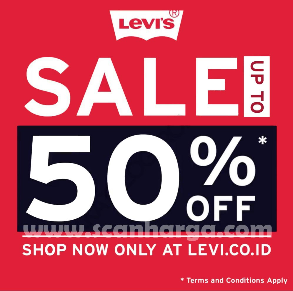 Promo Levi's SALE up to 50% off* Periode 9 - 13 November 2020