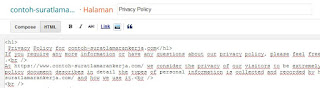 Cara Membuat Privacy Policy, Disclaimer & Terms of Service