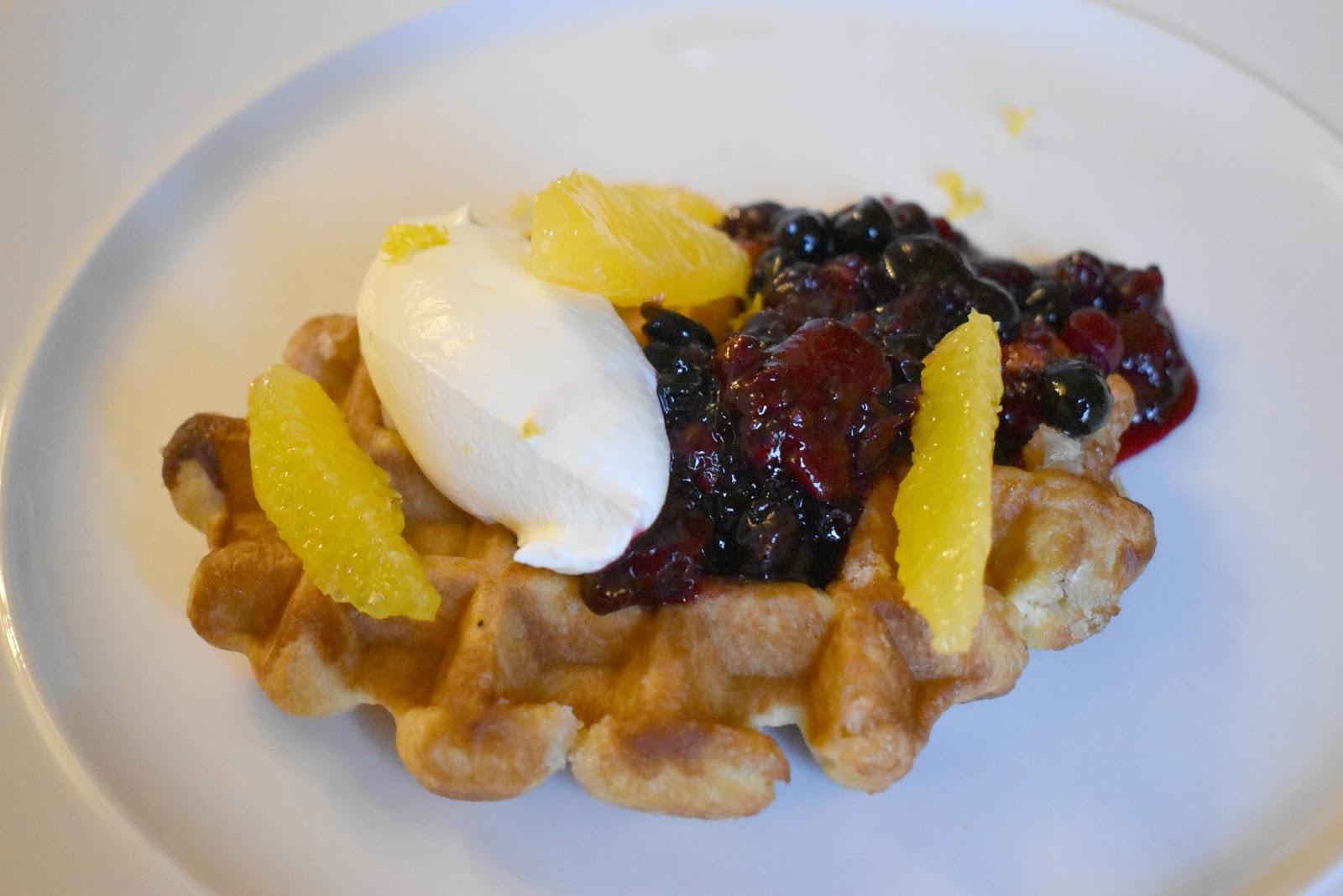 Walwick Hall Northumberland - Breakfast Waffle