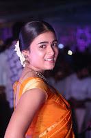 Shalini Pandey in Beautiful Orange Saree Sleeveless Blouse Choli ~  Exclusive Celebrities Galleries 005.JPG