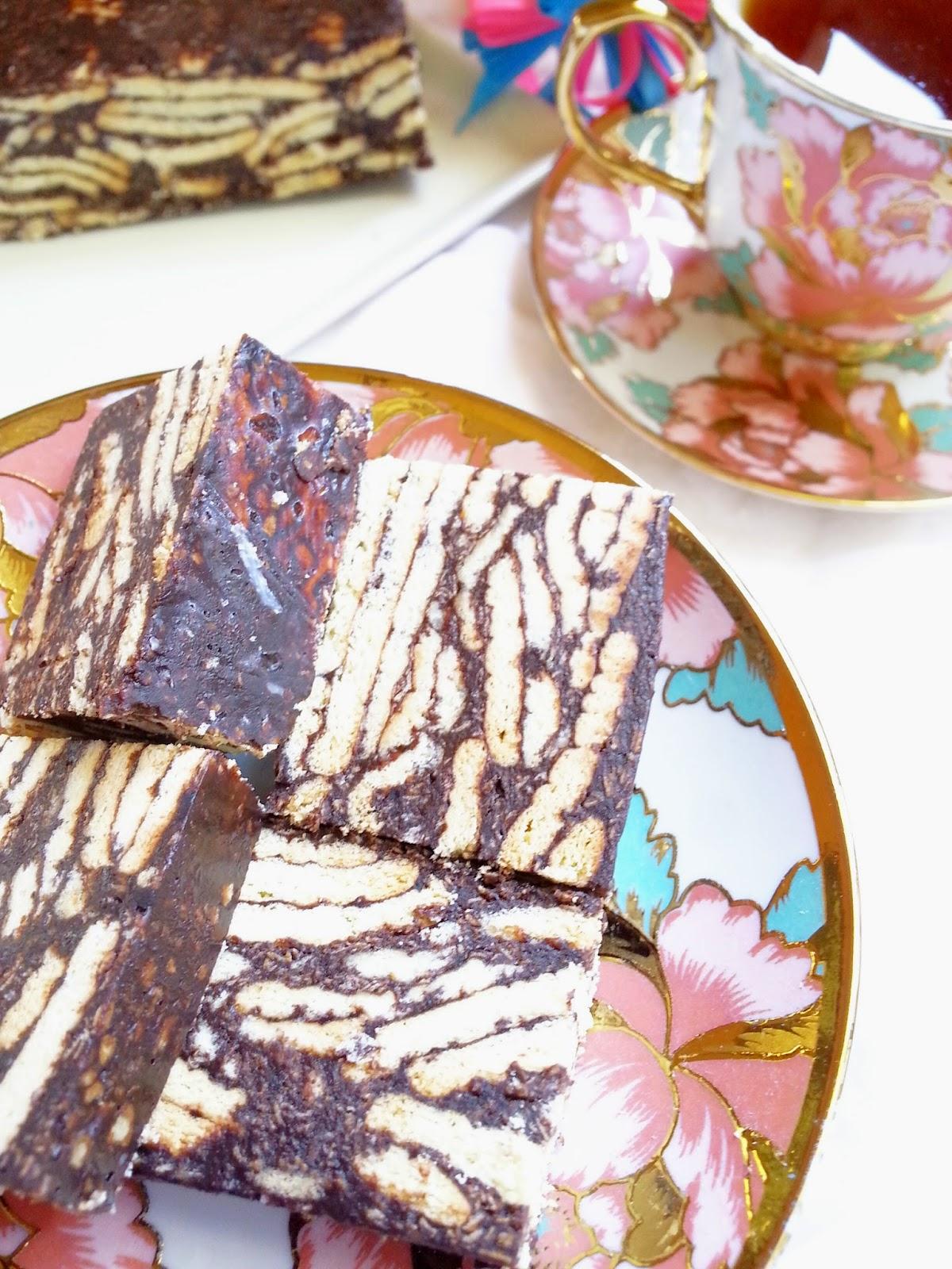 resepi kek batik  cantik agustus zx Resepi Kek Batik Biskut Marie Chef Wan Enak dan Mudah