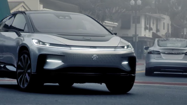 Tesla Faraday Future FF91 First Time On The Road