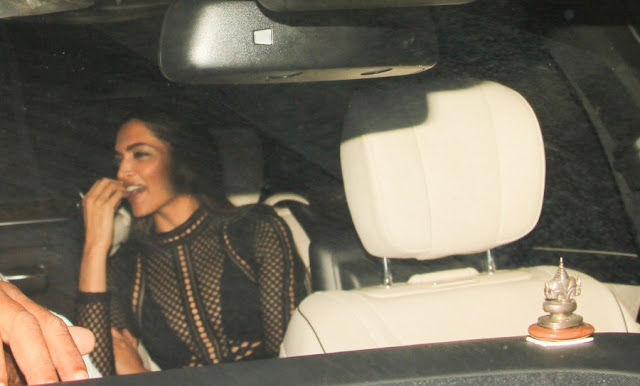 Deepika Padukone Clicked at Karan Johar Birthday Bash
