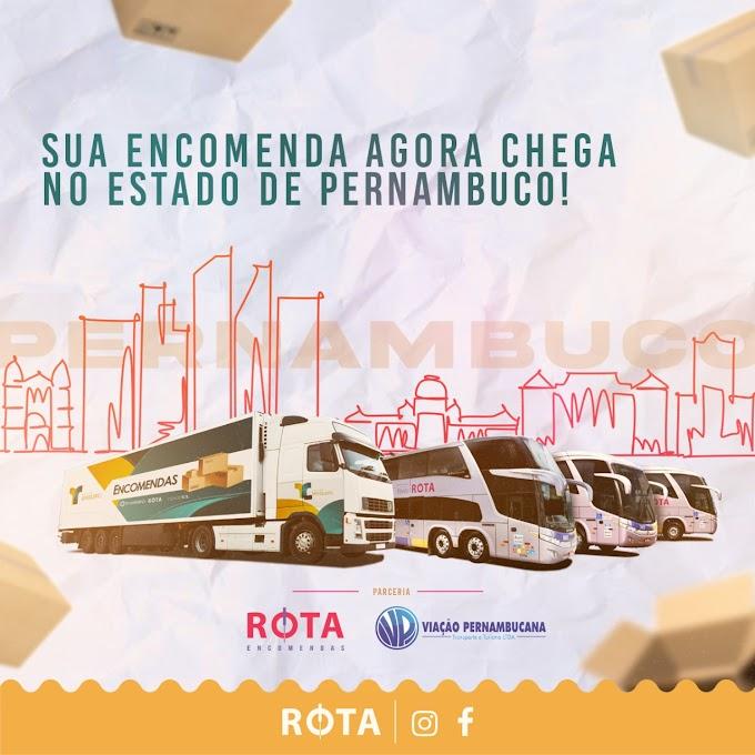 Ceará e Pernambuco contam com o  serviço de encomendas da ROTA Transportes