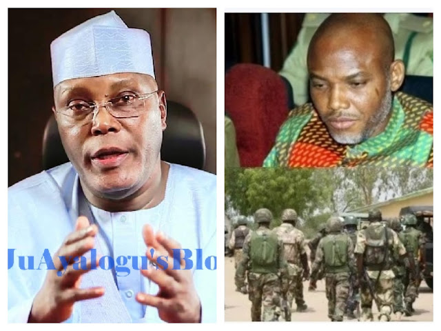 Nnamdi Kanu Speaks On Collecting Money From Atiku, Reveals How APC, PDP Made Him Call Off Election Boycott