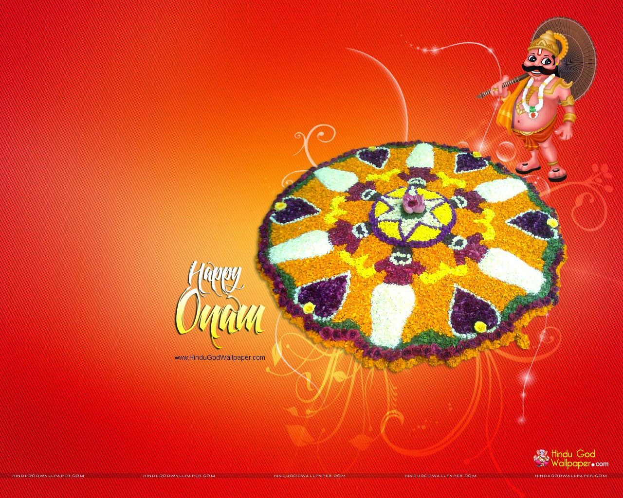 onam wallpapers with onam thapan maveli red color