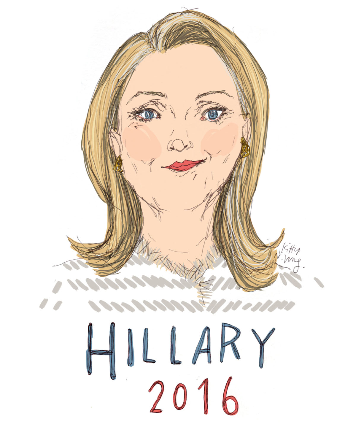 Kitty N. Wong / Hillary Clinton 2016 Illustration