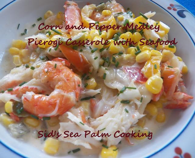 Corn and Pepper Medley Pierogi Casserole