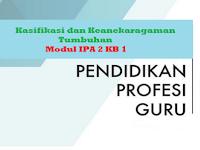 Klasifikasi dan Keanekaragaman Tumbuhan - Modul IPA 2 KB 1