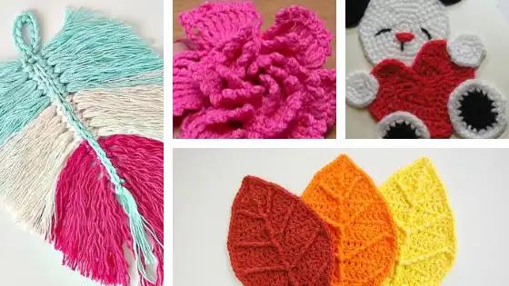 Apliques a Crochet para Aprender a Tejer
