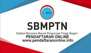 Pendaftaran Online SBMPTN 2109-2020