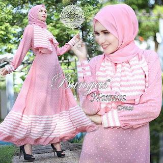 Dress dan Set Phasmina Namira By Bungas warna pink