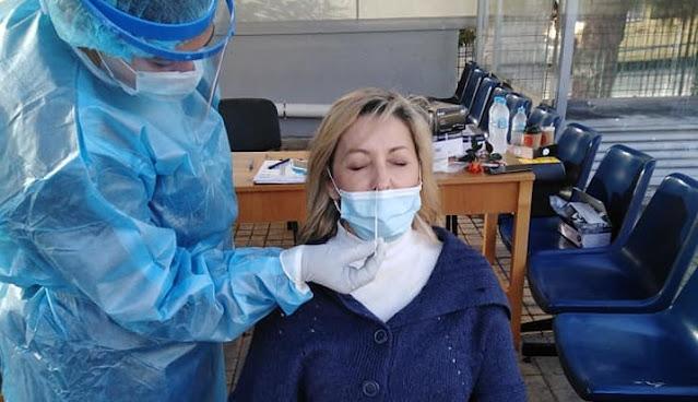 Rapid test από την ΚΟΜΥ Αργολίδας σημερα στο Νοσοκομείο Άργους