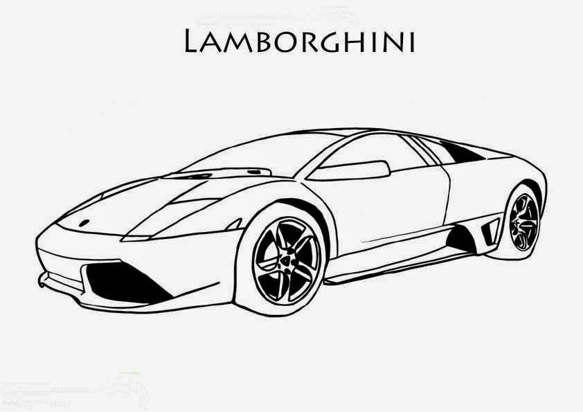 Coloriage Lamborghini Galardo Green
