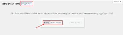 Upload Tema Wordpress