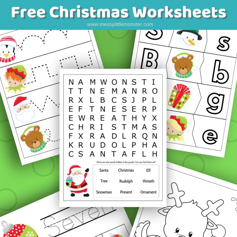 Free Christmas worksheets Christmas activities for kids