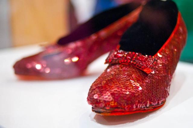 Las zapatillas que utilizó Judy Garland en el Mago de Oz