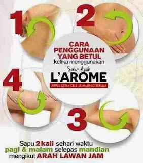 cara pemakaian larome slimming serum