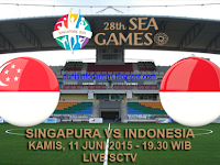 Singapura U23 vs Indonesia U23 SEA Games 2015