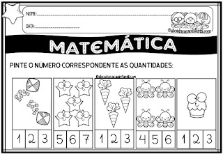 ATIVIDADES DE MATEMÁTICA - NÚMEROS E QUANTIDADES