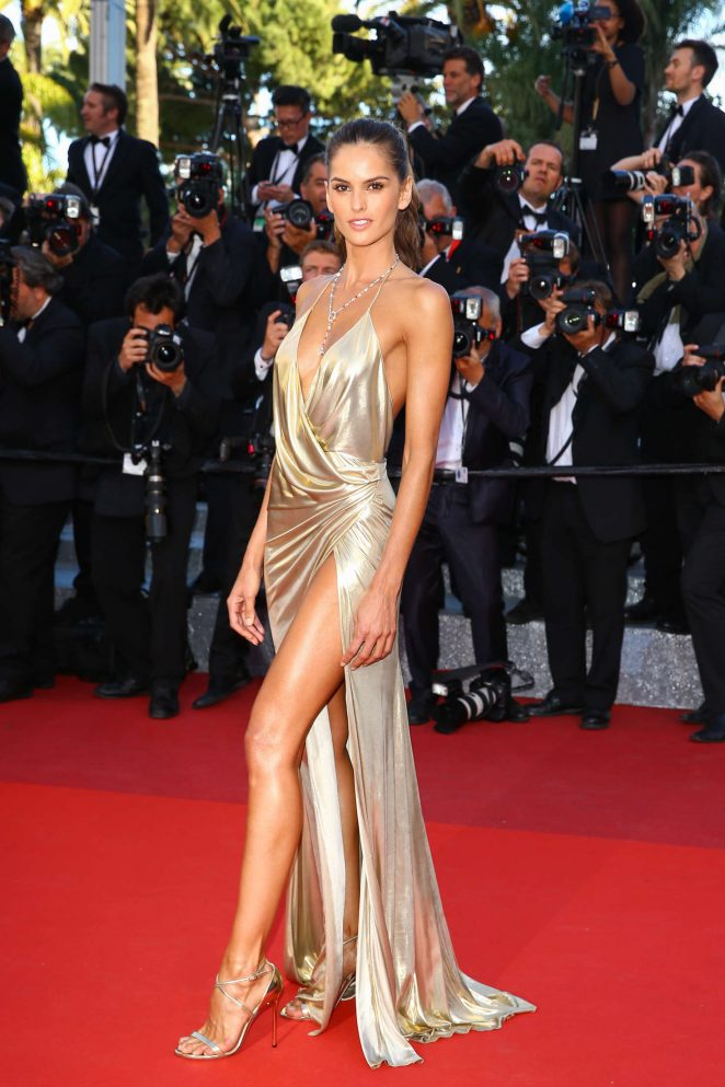 Izabel Goulart flashes skin at 'The Last Face' premiere at the Cannes Film Festival