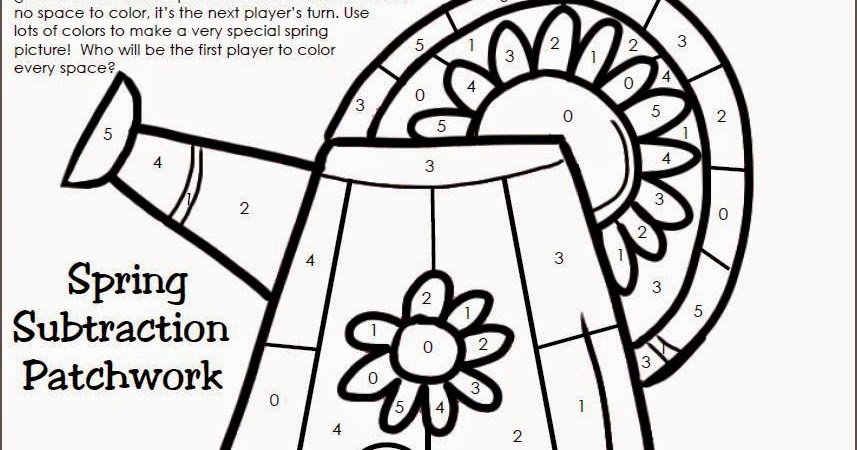 Classroom Freebies: Spring Subtraction Game