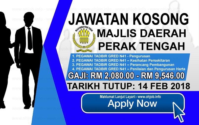 Jawatan Kerja Kosong Majlis Daerah Perak Tengah - MDPT logo www.ohjob.info februari 2018