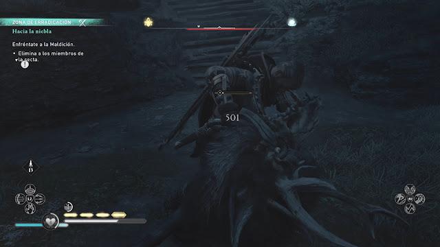 Combate contra Puca Análisis de Assassins Creed Valhalla La ira de los Druidas para PS5