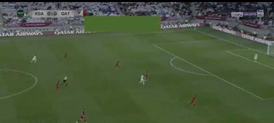 ملخص مباراة السعودية وقطر
