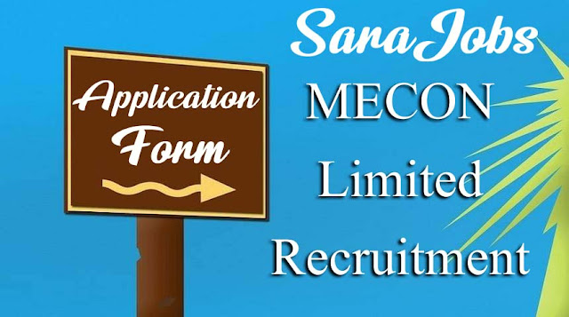 MECON Limited Recruitment