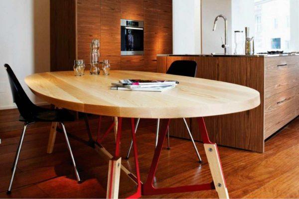 Kích thước chuẩn của bàn ăn hình ovan: