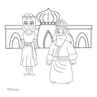 דפי צביעה מגילת אסתר