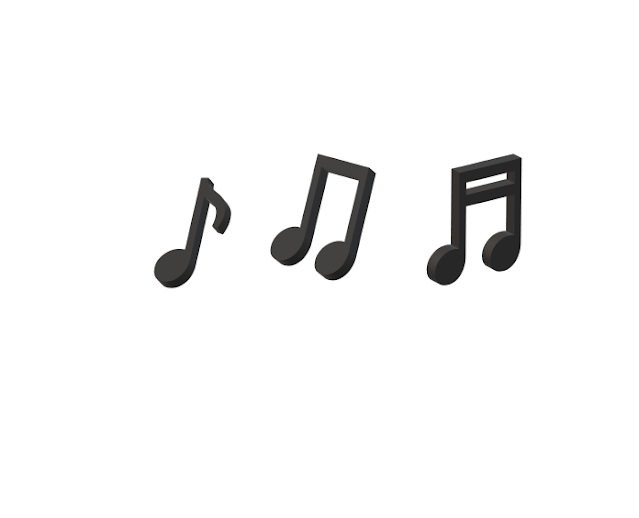 A picture of Musical notes