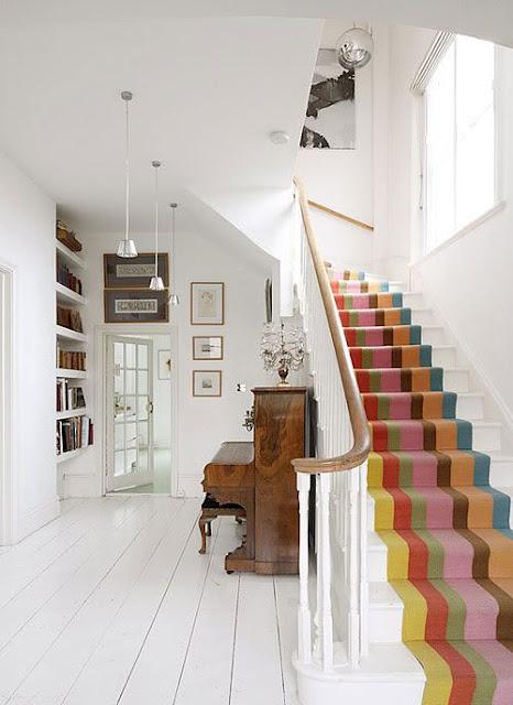 Colourful staircase deisgns