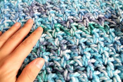 imagen textura manta cola de sirena ahuyama crochet