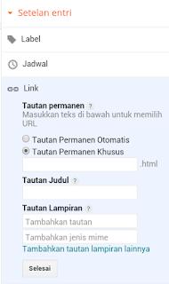 Cara Merubah Link Permanen Yang Terlanjur Di Post