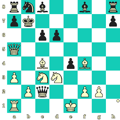 Les Blancs jouent et matent en 2 coups - Sarasadat Khademalsharieh vs Elena Boric, Tromsoe, 2014
