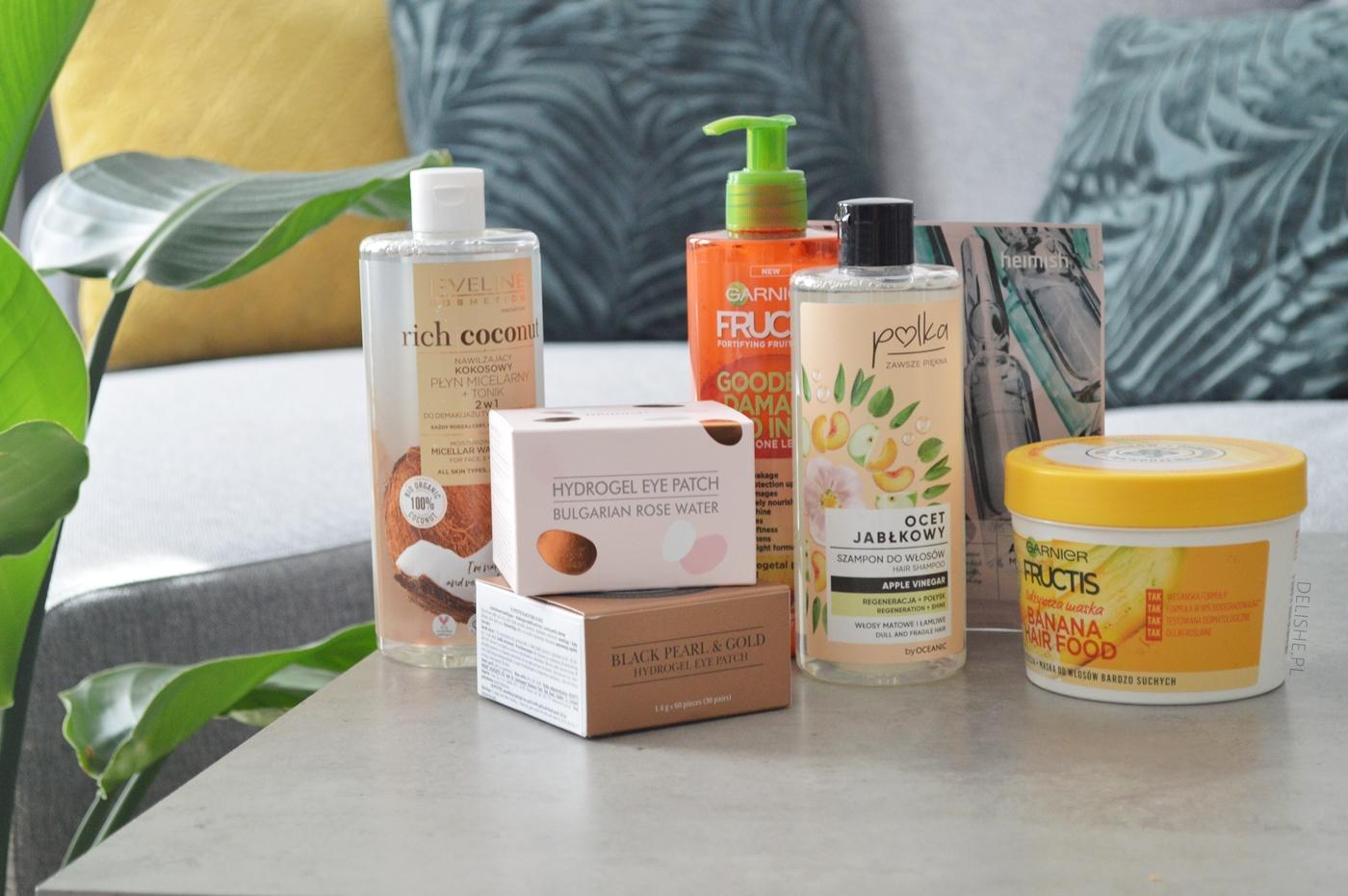 zakupy kosmetyczne płatki pod oczy maska, szampon