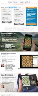 Landing page de la membresía de chess.com