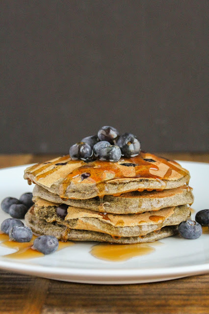 Blueberry Buckwheat Pancakes | The Chef Next Door